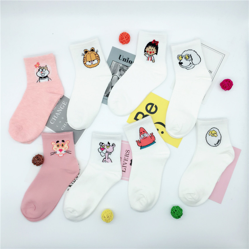 Autumn Wowen Socks High Quality Cute Elegant Kawaii Cartoon Harajuku Cotton Animals Sports Casual Short Socks Hot