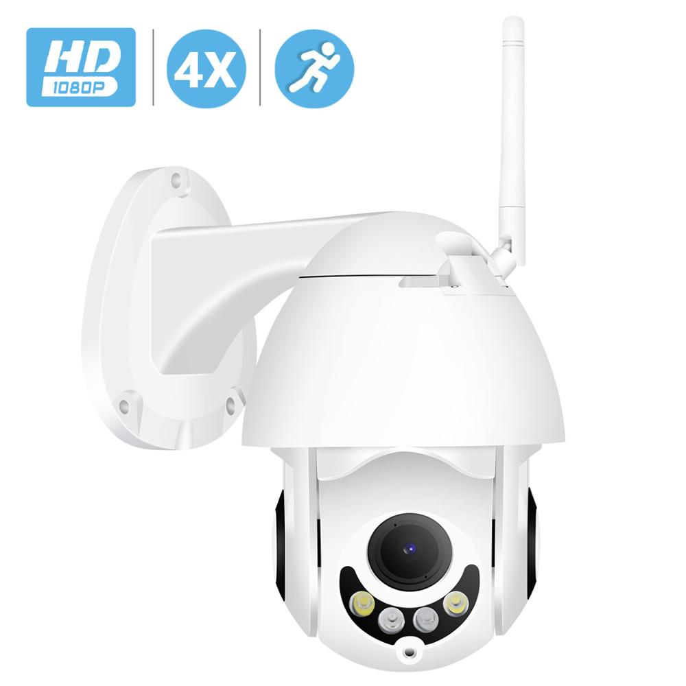BESDER H.265 PTZ IP Camera WiFi Mini Speed Dome Security Camera 4X Auto Zoom Motorized Lens ONVIF RTSP P2P SD Card Slot Audio