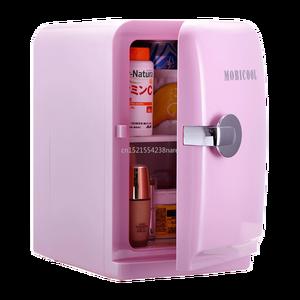 220V /12V Pink 5L Mini Home Car Fridge Mobile Refrigerator Mute Food Grade PP Freezer ABS Aluminum 5-65 Celsius Cold/warm Box