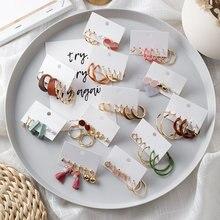 6 шт/компл серьги кольца простые женские модные ювелирные изделия