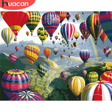 Oil-Painting Pictures Numbers-Landscape-Kits Handpainted Canvas Home-Decor HUACAN Gift