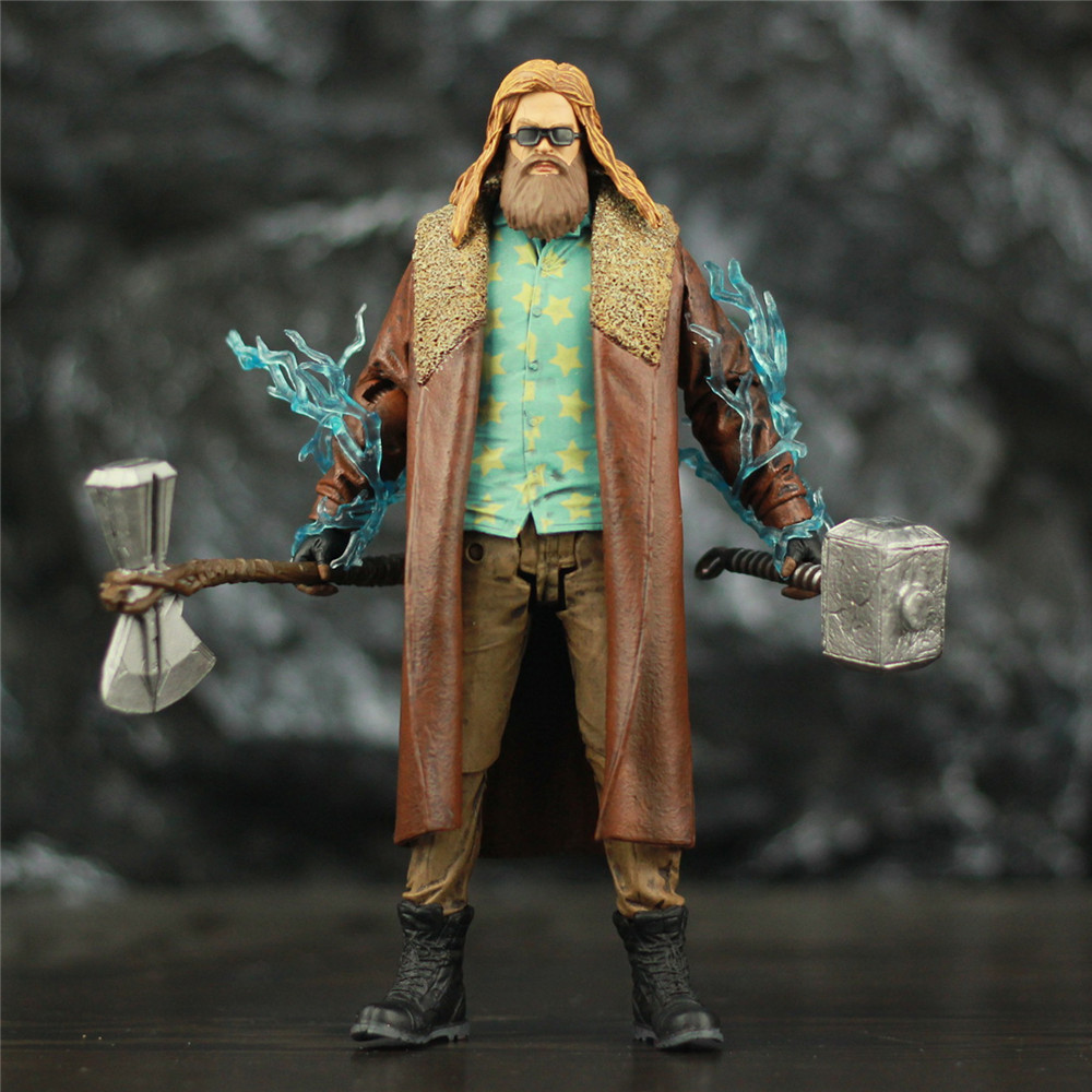 Custom Marvel Endgame Fat Thor 18cm Action Figure Accessory Mjollnir Hammer StormBreake Axe Glasses Avengers 4 Legends Toys Doll