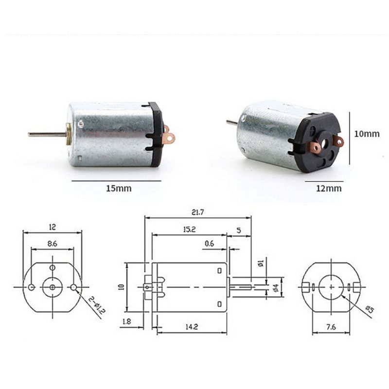 DC 220V Hobby Fai Da Te High Torsion High Speed  Mini DC Motor - Kit Electrc Per Giocattoli
