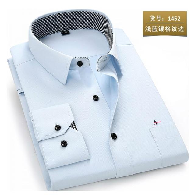2020 reserva aramy New men shirt Long Sleeve Men Dress Shirt Fashion Male Business Formal Wear Office Working Shirts white shirt 5