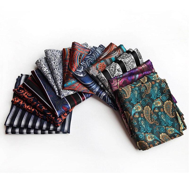 Vintage Men British Design Floral Print Pocket Square Handkerchief Chest Towel Suit Accessories Wedding Pocket Square Towel 25cm
