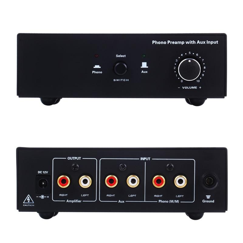 Phono platine vinyle préampli Signal amplificateur préphonographe avec entrée auxiliaire contrôle du Volume AS99 - 2