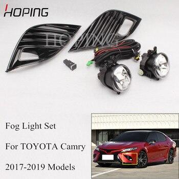 High Quality Car 1 Set Front Bumper LED Fog Light Assembly Kit For TOYOTA Camry 2017 2018 2019 2.5S LED Fog Lamp Harness Set