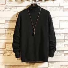 Men Sweaters Pullovers Winter Clothes Asian Christmas Japan-Style Designer Plus-Size