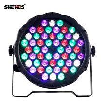 Fast Shipping 6pcs/lot 54x3W RGBW LED Flat Par RGBW Color Mixing DJ Wash Light Stage Uplighting KTV Disco DJ DMX512 цена 2017
