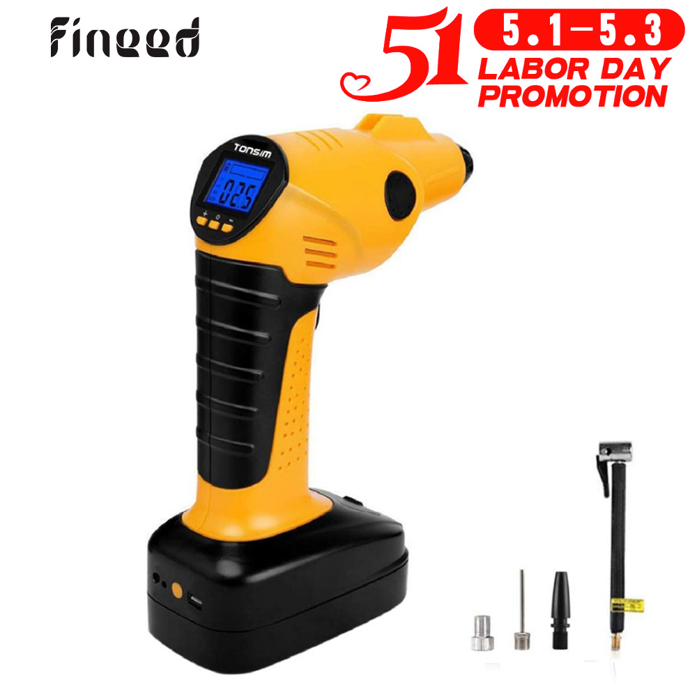 HD LED display and light Digital Tyre Inflator-12V 150PSI Touch Screen Air Compressor Tyre Pump Inflator with 35L//Min Larger Air Flow,3 nozzle adapters UPDATED VERSION