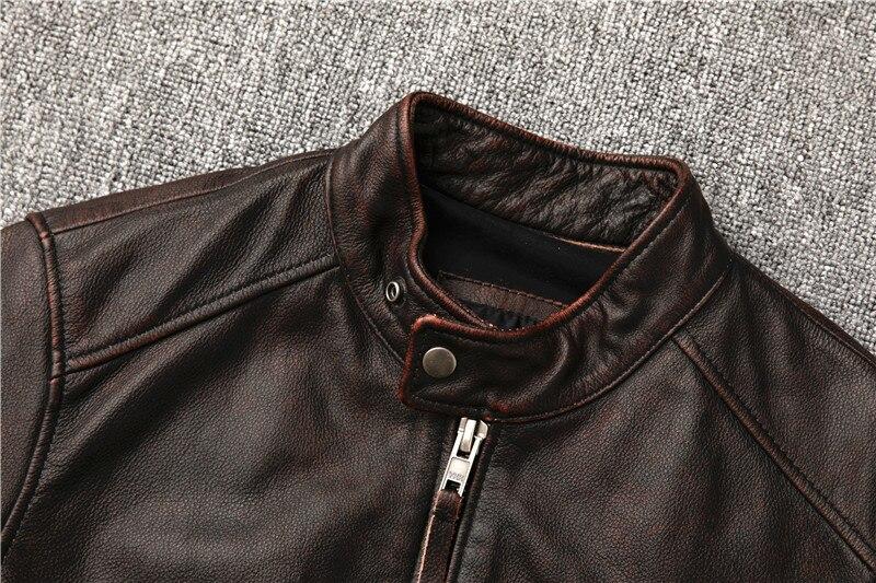 H56c18147533f44a4a3356f6012667cdb3 Classic motor style,vintage genuine leather Jacket,fashion men brown Leather coat,street biker coat,sales