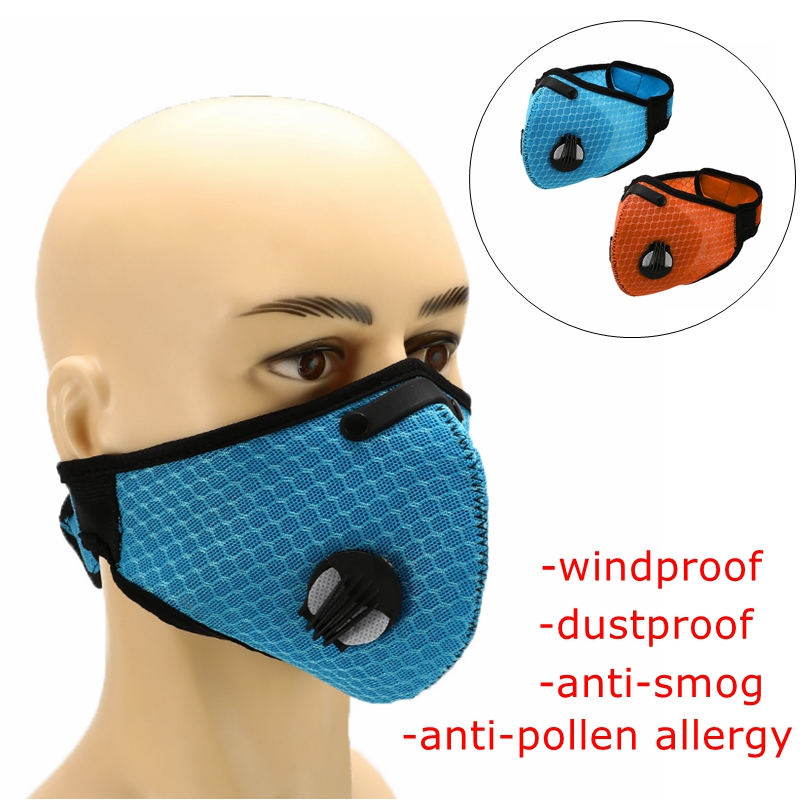 Buy Dustproof Activated Carbon Dustproof Windproof Mask Protective Mesh Cycling Mask Outdoor Bicycle Sport Road Filter Face Cover for only 2.87 USD