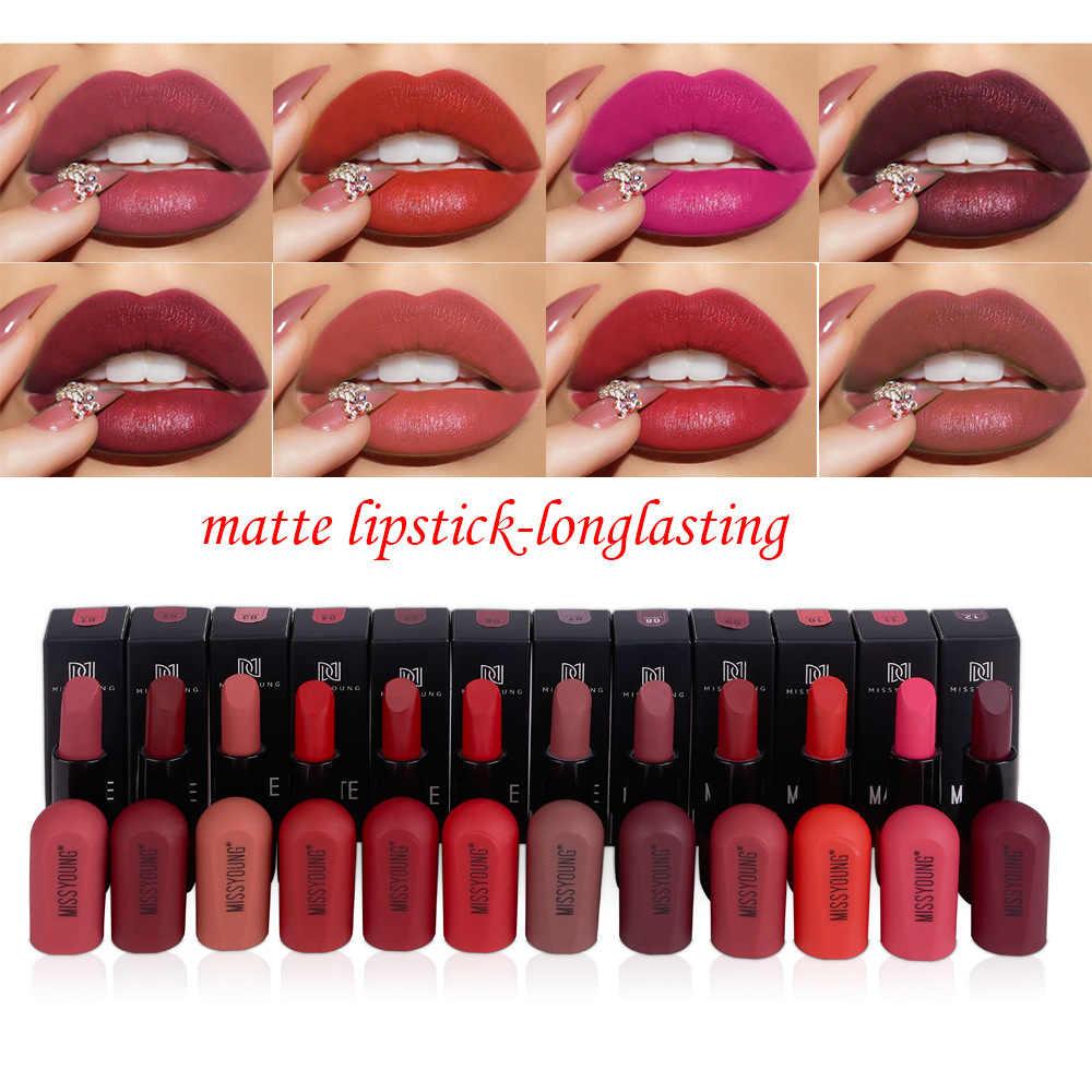 12 mat couleur Sexy brillant à lèvres rouge à lèvres mat imperméable velours rouge à lèvres longue durée hydrate beauté lèvres cosmétiques TSLM1