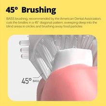Crianças escova de dentes elétrica para crianças inteligente 360 graus u silicone usb automático ultra sônica escova de dentes padrão dos desenhos animados