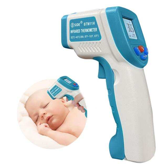 BSIDE Baby Forehead Thermometer Non Contact Infrared Digital IR Laser Temperature Gun for Infant Kids Toddler Children Adult Pet