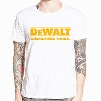 Мужской Забавный подарок, новый логотип Dewalt power Tools, короткий рукав, Мужская черная футболка, размер, Повседневная футболка с коротким рукаво...