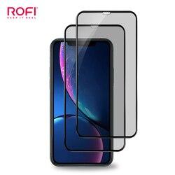 2 sztuk/zestaw 3D zakrzywione Screen Protector pełne pokrycie Anti-peeping szkło hartowane Film dla iPhone 11 Pro Max S XR ochrona prywatności