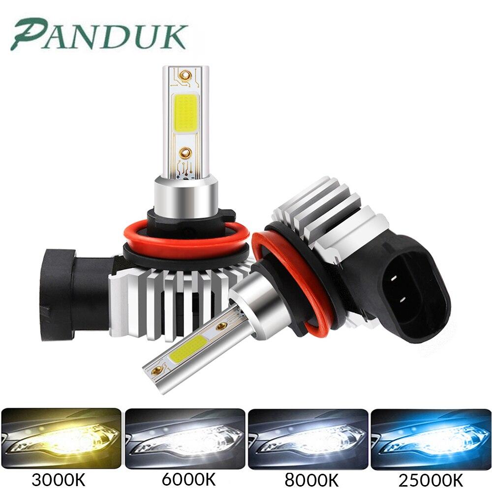 PANDUK 2 шт Автомобильный светодиодный головной светильник накаливания 60 Вт 12000LM H11 светодиодный 9006 HB4 9005 HB3 H3 H7 светодиодный H4 H1 мини головной св...