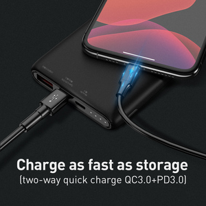 Image 5 - Baseus Quick Charge 3.0 10000mAh Power Bank USB Type C PD 10000 Powerbank Portable External Battery Charger For Xiaomi Mi iPhone