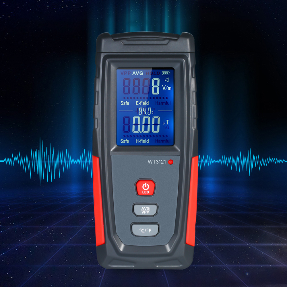 Wintact Handheld Mini High Precision Digital LCD EMF Meter Electromagnetic Field Radiation Detector Dosimeter Tester