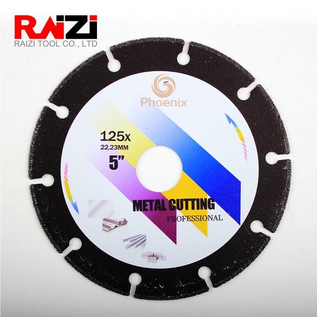 Raizi disque de coupe en métal 4, 4.5, 5 pouces, pour meuleuse dangle, lame de scie en diamant abrasive pour lacier, la tôle et lacier inoxydable