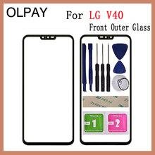 """מקורי חדש 6.4 """"אינץ עבור LG V40 מגע מסך פנל קדמי חיצוני זכוכית עבור LG V40 מגע מסך פנל החלפה"""