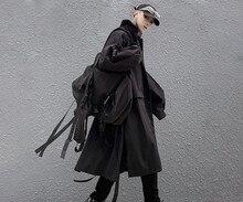Dark Wind Celibacy Department of long male student windbreaker coat INS tide brand original stitching design coat Cape
