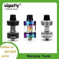 Características del tanque de Sub Ohm de Vapefly Nicolas MTL bobina de enchufe de BVC bobina única atomizador de cigarrillo electrónico de diseño de reemplazo fácil