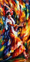 handmade dance painting knife painting Leonid Afremov artist canvas painting reproduction oil pictures