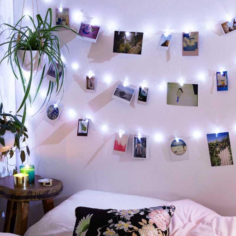 2 M/5 M/10 M תמונה קליפ LED מחרוזת גרלנד אורות פיות אורות חיצוני סוללה/USB מופעל חג המולד קישוט מסיבת חתונה בר