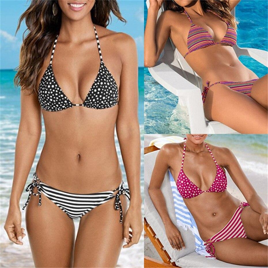 Sexy Micro Bikini Bandage Swimwear Women Swimsuit Push Up Bikinis 2019 Mujer Bathing Suit Floral Brazilian Biquini Beach Wear