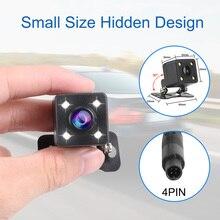 설치하게 쉬운 돌진 캠 부속품 LED 야간 시계 기능 140 ° 광각 운동 2.5mm 영상 잭 차 뒷 전망 사진기