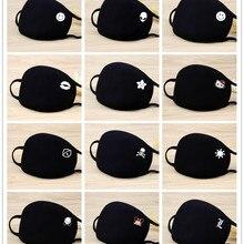 Anime Mask Cotton Health-Face-Protective-Mask Washable Black Fashion Unisex Anti-Dust