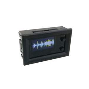 Image 3 - 0.96 inch OLED Music Spectrum Display Analyzer W/ CLOCK MP3 Amplifier Audio Level Indicator rhythm Analyzer VU METER dc 5v  12v