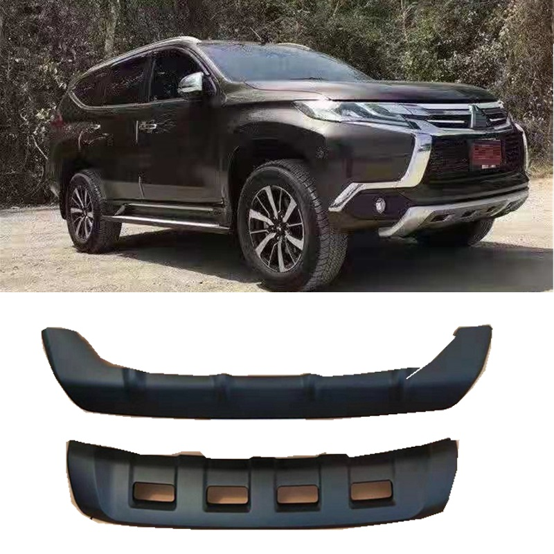 EXTERIOR AUTO ACCESSORIES 4X4 CAR PARTS FRONT REAR BUMPER PLATE COVER FIT FOR PAJERO SPORTS SUV AUTO EXTERIOR BUMPERS 2018+