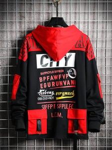 Black Hoodie Sweatshirt Spring Streetwear Harajuku Japanese Hip-Hop Man Singleroad Male