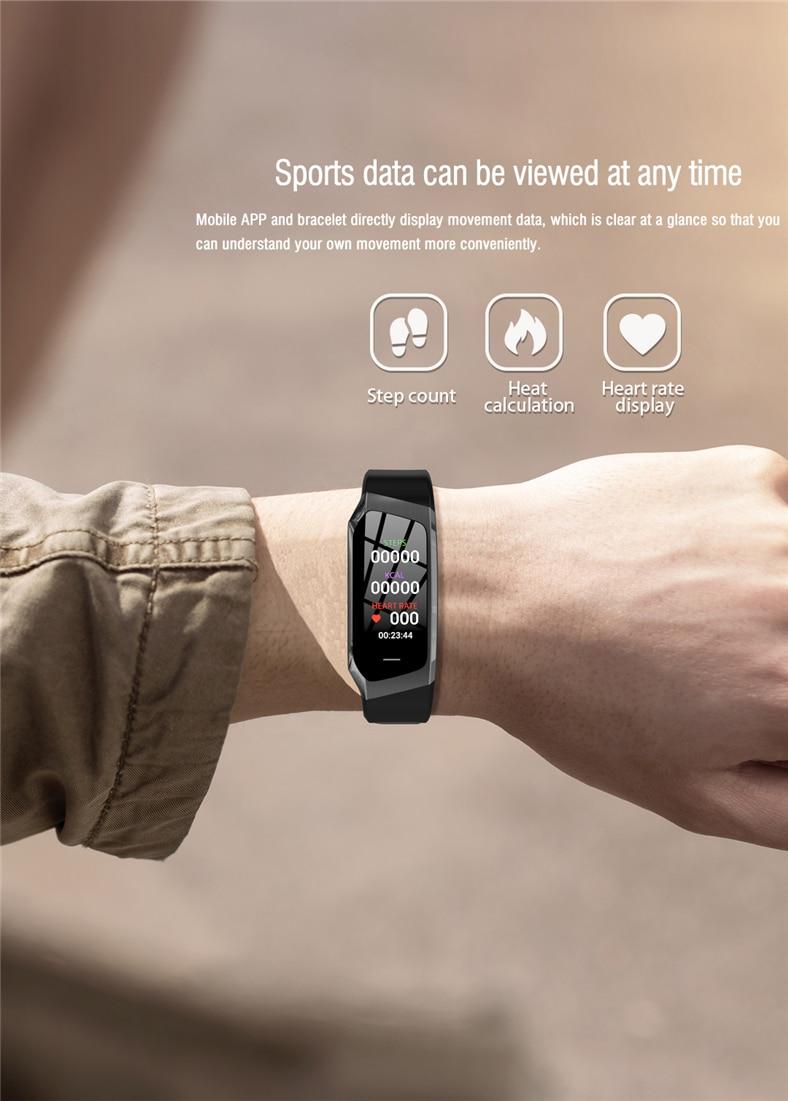 H56c2df52686c401e882bfcaa1028fbdbq E18 Smart Bracelet Blood Pressure Heart Rate Monitor Fitness Activity Tracker smart watch Waterproof Men Women Sport wrist band