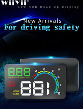 OBDHUD D3000 car head up display Digital Speedometer Head Up Display Windshield Projector Overspeed RPM Alarm All Vehicle Cars