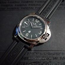 Luxury Brand New Men Automatic Mechanical Hand Wind Sapphire Stainless Steel Black Rubber 1950 3 Days Watch Luminous 44MM