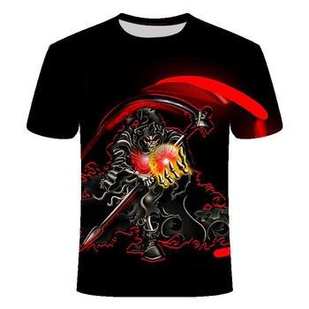 2019 Summer New 3d Skull T shirt Men Short sleeve shirt  1