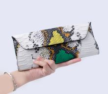 serpentine PU Leather Handbags Day Clutches Fashion Women Messenger Bags Crocodile Pattern Genuine Leather Women's wallets Bag fashion two way designer genuine alligator skin ladies women pink day clutches exotic crocodile leather wristlets card case bag