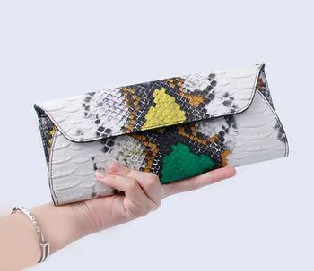 цена на serpentine PU Leather Handbags Day Clutches Fashion Women Messenger Bags Crocodile Pattern Genuine Leather Women's wallets Bag