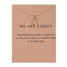 Fashion Cute Cat Jewelry New Gold We Are Family Animal Cat Alloy Chocker Necklace Pendant Short Necklaces Best Gift For Women fairywoo new 3 styles animal pendant necklace for women 2019 fashion cute cat jewelry gold chains handmade necklace glass beads