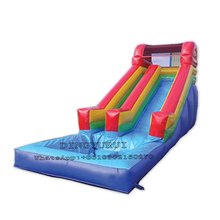 цена на Commercial Party Rentals Double Lane Inflatable Slide Giant PVC Water Slide with Pool