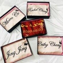 رداء العروس من JRMISSLI مخصص بشعار من الساتان للنساء رداء كيمونو للسيدات لوصيفات العروس ورداء حمام نسائي حريري ملابس للنوم