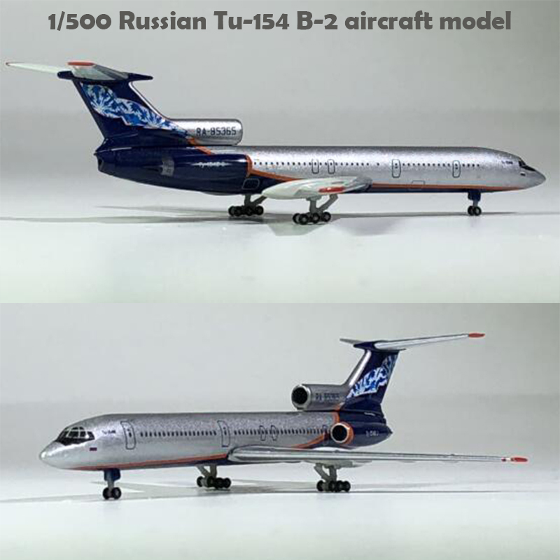 Fine  1/500  Russian Tu-154 B-2 Aircraft Model  RA-85365  Alloy Collection Model