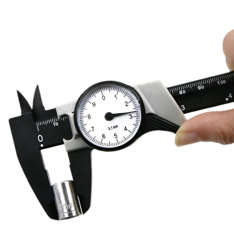 Home Gadget Portable Plastic Table Caliper Vernier Caliper Measuring Gauging Tools Analysis Instruments Tools