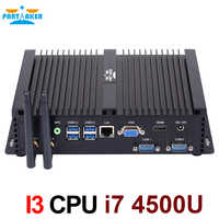 Partaker Mini Computer Fanless Mini PC Windows 10 Core i7 4500U 2*RS232 industrial PC Rugged PC 4K Ultra HDMI VGA Display