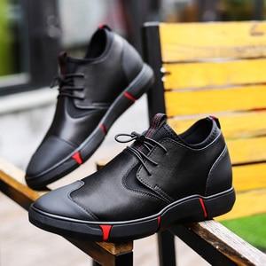Image 5 - Misalwa 5CM / 7 CM גובה להגדיל פיצול עור גברים מעלית נעלי יומי מקרית Sneaker אופנה נוח התאמה גברים נעליים