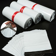 50pcs/Lots White Courier Bag Express Envelope Storage Bags Mail Bag Mailing Bags Self Adhesive Seal Plastic Packaging